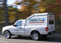 Direct Express Delivery small covered pickup truck